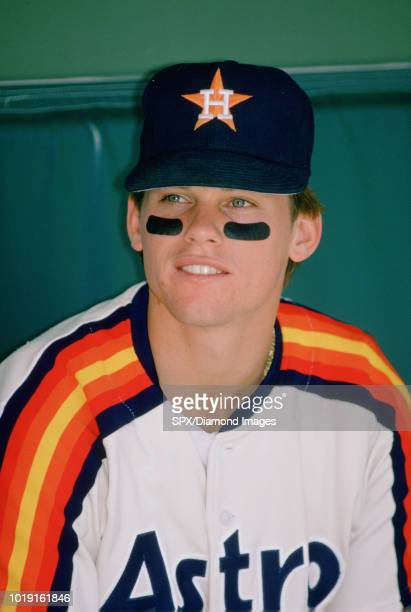 Craig Biggio of the Houston Astros dugout portrait before a game from his 1992 season with the Houston Astros. Craig Biggio played for 20 seasons,...