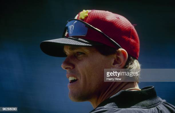 Craig Biggio of the Houston Astros looks on before the game against the Chicago Cubs at Wrigley Field on May 2,2000 in Chicago, Illinois.