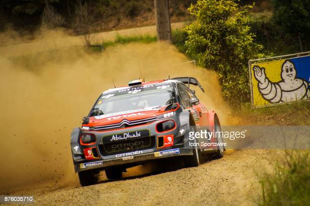 Craig Breen and codriver Scott Martin of Citroën World Rally Team compete in the Argents section on day two of the Rally Australia round of the 2017...