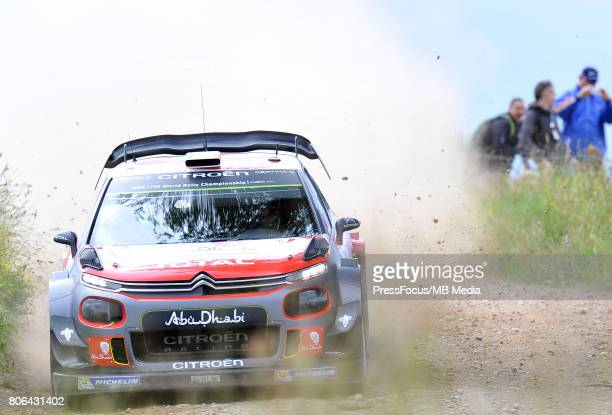 Craig Breen IRL Scott Martin GBR Citroen Total Abu Dhabi WRT during the WRC Orlen 74 Rally Poland on July 01 2017 in Mikolajki Poland