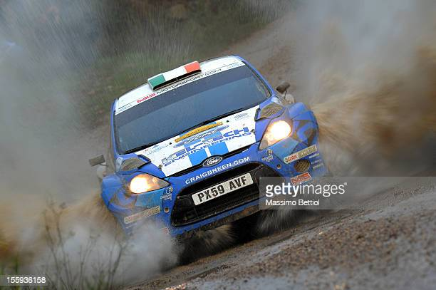 Craig Breen of Ireland and Paul Nagle of Ireland compete in their Craig Breen Ford Fiesta S2000 during Day One of the WRC Spain on November 09 2012...