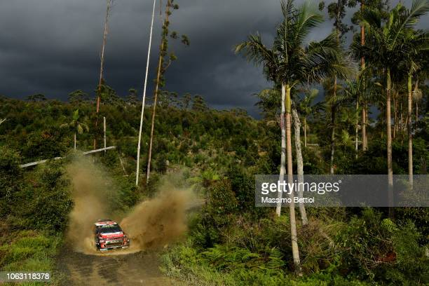 HARBOUR AUSTRALIA NOVEMBER Craig Breen of Ireland and Scott Martin of Great Britain compete in their Citroen Total Abu Dhabi WRT Citroen C3 WRC...
