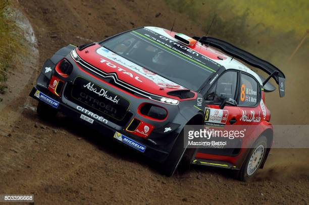 Craig Breen of Ireland and Scott Martin of Great Britain compete in their Citroen Total Abu Dhabi WRT Citroen C3 WRC during the Shakedown of the WRC...