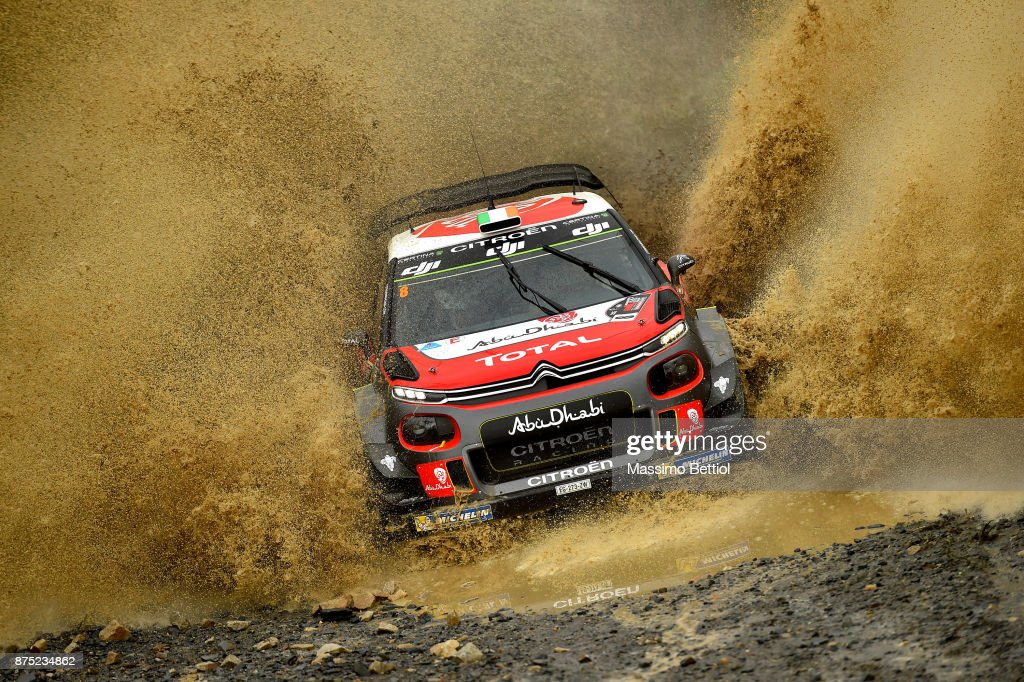 Craig Breen of Ireland and Scott Martin of Great Britain compete in their Citroen Total Abu Dhabi WRT Citroen C3 WRC during Day One of the WRC Australia on November 17, 2017 in Coffs Harbour, Australia.