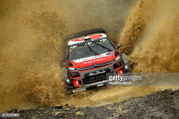 Craig Breen of Ireland and Scott Martin of Great Britain compete in their Citroen Total Abu Dhabi WRT Citroen C3 WRC during Day One of the WRC...