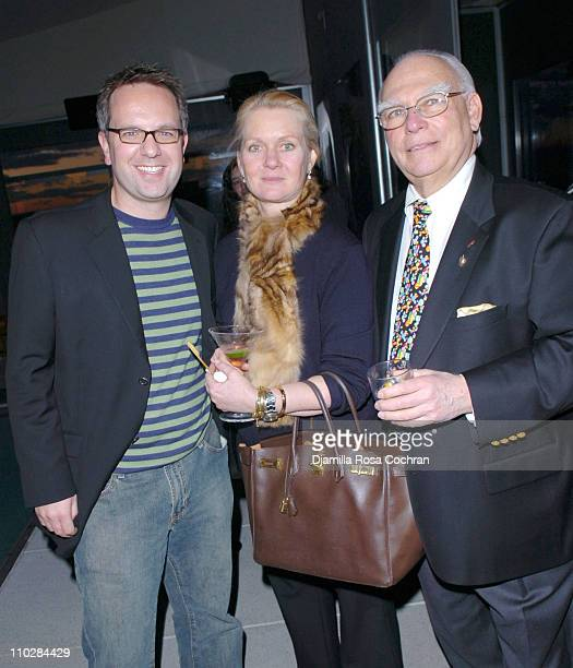Craig Brommers, Diane Smith and Ed Neger during W Magazine Celebrates the Launch of the 2006 Speedo Ad Campaign at Gansevoort Hotel in New York, New...
