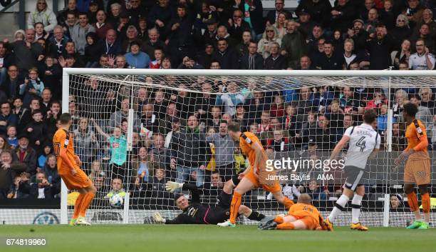 Craig Bryson of Derby County scores a goal to make it 31 during the Sky Bet Championship match between Derby County and Wolverhampton Wanderers at...