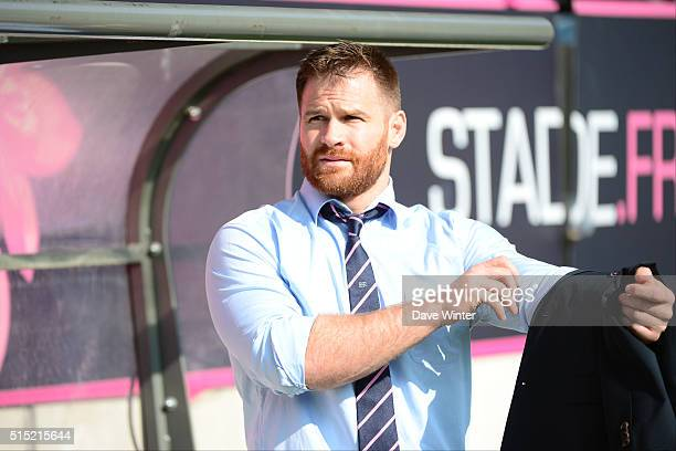 Craig Burden of Stade Francais Paris during the French Top 14 rugby union match between Stade Francais Paris and Racing 92 at Stade JeanBouin on...