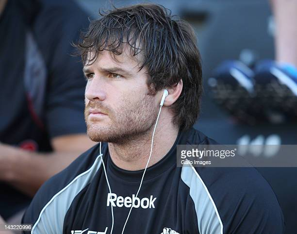 Craig Burden of the Sharks during the 2012 Super Rugby match between The Sharks and Chiefs from Mr Price Kings Park on April 21 2012 in Durban South...