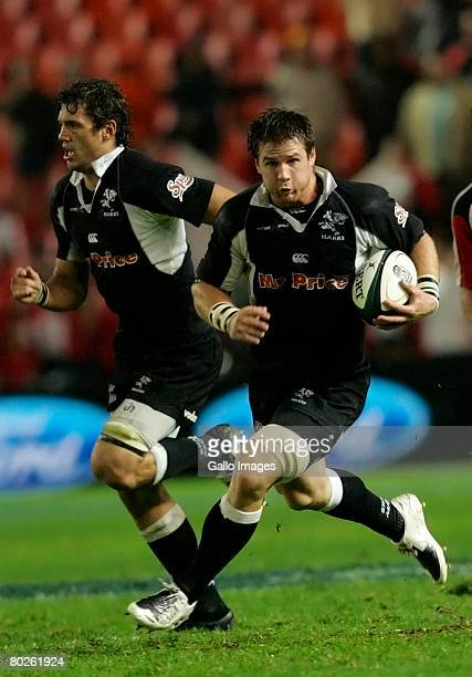 Craig Burden of the Sharks during the Super 14 match between Lions and Sharks held at Ellis Park Stadium on March 15 2008 in Johannesburg South Africa