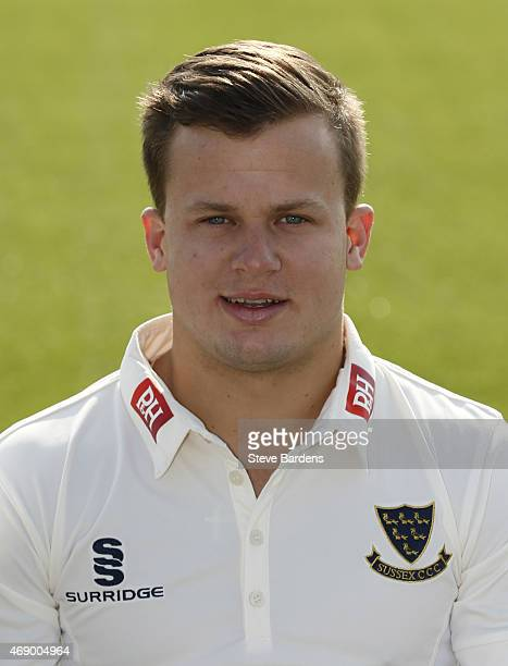 Craig Cachopa during the Sussex County Cricket Photocall at BrightonandHoveJobs.com County Ground on April 9, 2015 in Hove, England.