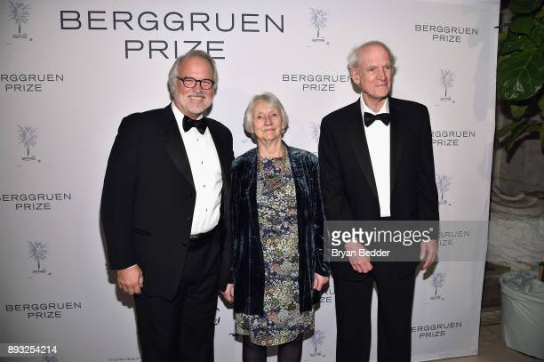 Craig Calhoun Baroness Onora O'Neill and Charles Taylor attend the Berggruen Prize Gala at the New York Public Library on December 14 2017 in New...