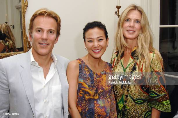 Craig Cardon Jeannie Lim and Shell Cardon attend Alex Hitz' Summer Dinner Party at a Private Residence on August 18th 2010 in Hollywood Hills...