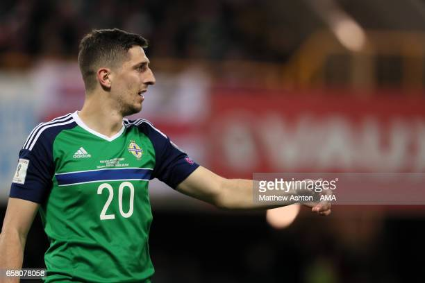 Craig Cathcart of Northern Ireland during the FIFA 2018 World Cup Qualifier between Northern Ireland and Norway at Windsor Park on March 26 2017 in...