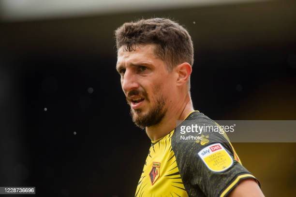 Craig Cathcart of Watford during the Sky Bet Championship match between Watford and Luton Town at Vicarage Road Watford England on September 26 2020