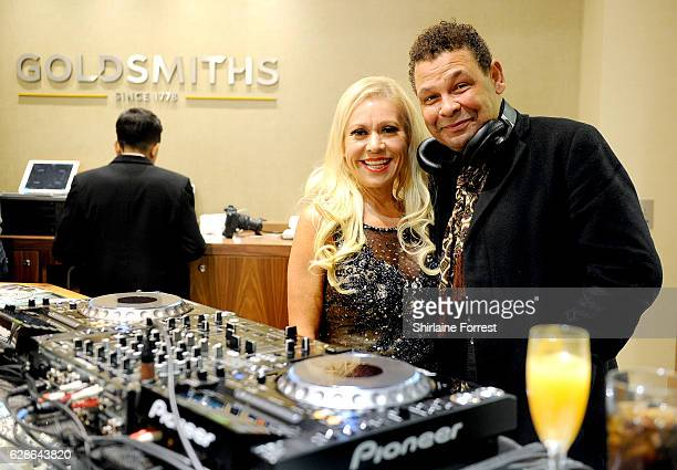 Craig Charles and Tina Malone attend the official opening of the Goldsmiths Liverpool Rolex lounge on December 8 2016 in Liverpool England