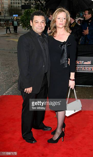 Craig Charles and wife Jackie during An Audience with Coronation Street April 9 2006 at ITV Studios in London Great Britain