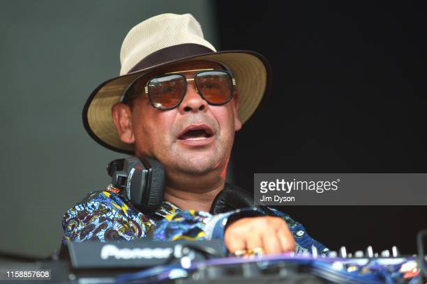 Craig Charles DJ's on The Truth stage in Shangri La during day three of Glastonbury Festival at Worthy Farm Pilton on June 28 2019 in Glastonbury...