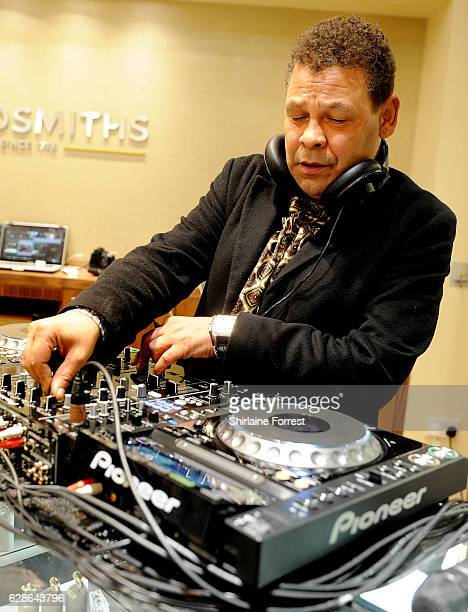Craig Charles entertains guests at the official opening of Goldsmiths Liverpool Rolex lounge on December 8 2016 in Liverpool England