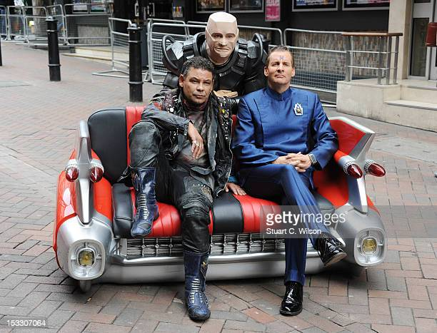 Craig Charles Robert Llewellyn and Chris Barrie attend a photocall for the return of Red Dwarf X at the Prince Charles Cinema Leicester Square on...