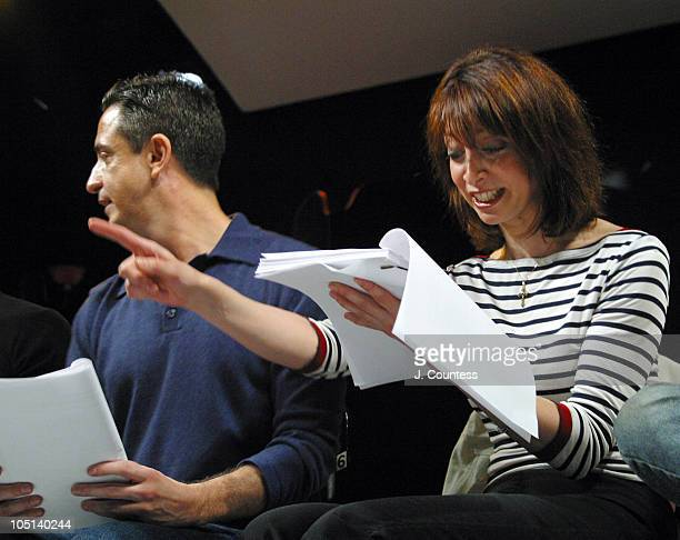 Craig Chester and Illeana Douglas during Reading of the Screenplay Adam and Steve at Primary Stages in New York City New York United States