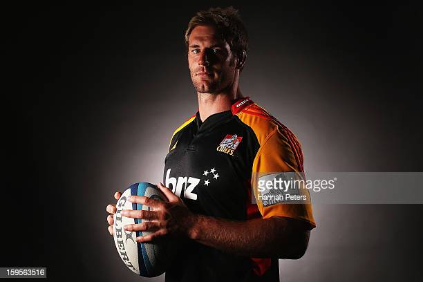 Craig Clarke poses for a photo during the Chiefs Super Rugby portrait session on January 16, 2013 in Hamilton, New Zealand.