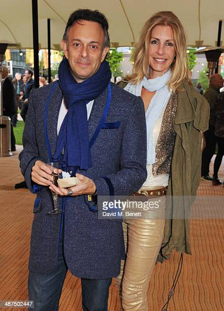 Craig Cohen and Lisa Hogan attend the Battersea Power Station Annual Party on April 30 2014 in London England