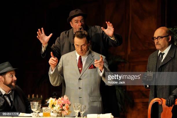 Craig Colclough as Pistol Michael Colvin as Bardolph Simon Keenleyside as Ford and Carlo Bosi as Dr Caius in the Royal Opera's production of Giuseppe...