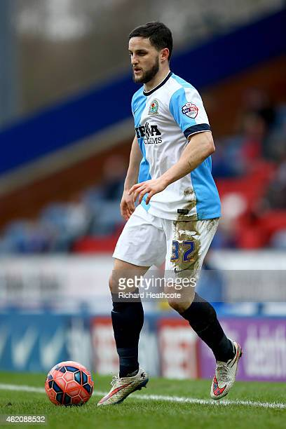 Craig Conway of Blackburn in action during the FA Cup Fourth Round match between Blackburn Rovers and Swansea City at Ewood park on January 24 2015...