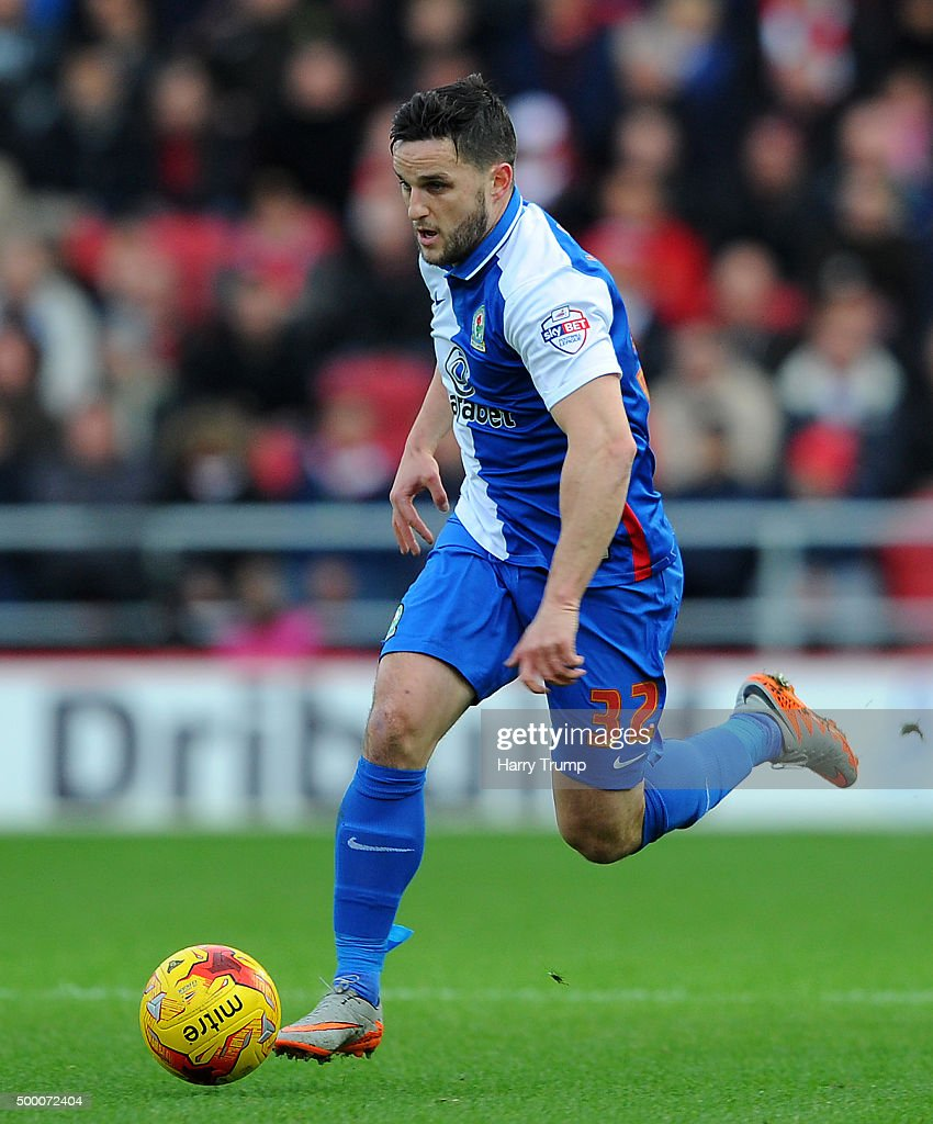 Craig Conway of Blackburn Rovers during the Sky Bet Championship match between Bristol City and Blackburn Rovers at Ashton Gate on December 5, 2015 in Bristol, England.