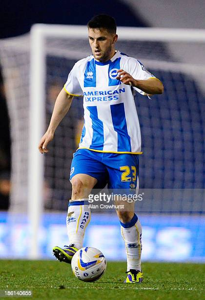 Craig Conway of Brighton during the Sky Bet Championship match between Brighton Hove Albion and Watford at The Amex Stadium on October 28 2013 in...