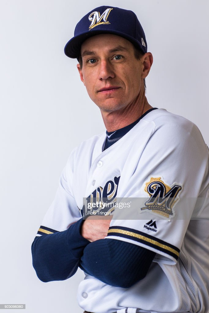 Craig Counsell manager of the Milwaukee Brewers poses for a portrait during Photo Day at the Milwaukee Brewers Spring Training Complex on February 22, 2018 in Maryvale, Arizona.