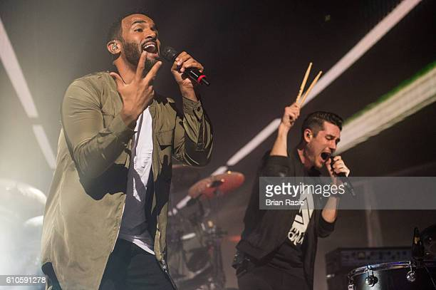 Craig David and Dan Smith of Bastille perform at the Apple Music Festival at The Roundhouse on September 26 2016 in London England