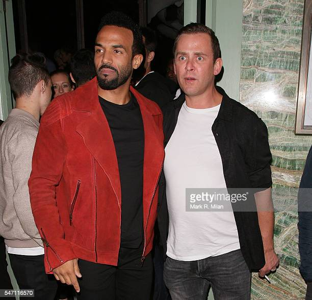 Craig David and Scott Mills at Sexy Fish restaurant for the Sony Music VIP Summer Party on July 13 2016 in London England