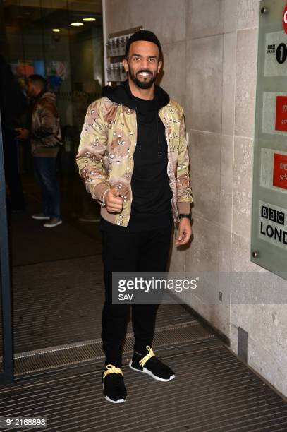 Craig David at BBC Radio 1 on January 29 2018 in London England
