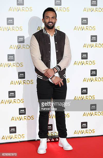 Craig David attends the BBC Music Awards at ExCel on December 12 2016 in London England