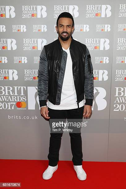 ARTIST Craig David attends The BRIT Awards 2017 nominations launch party at ITV Studios on January 14 2017 in London United Kingdom