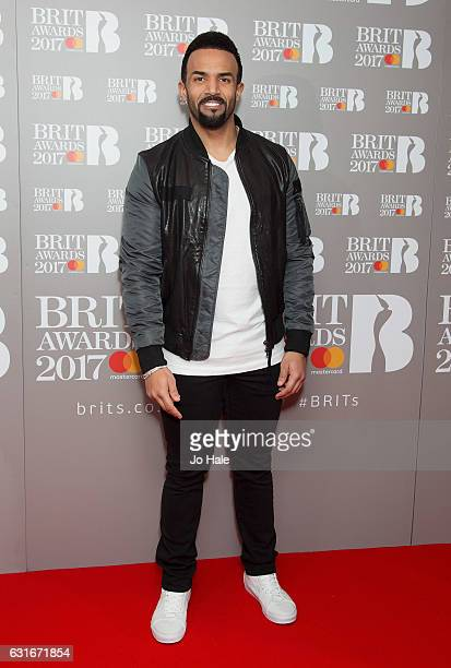 ARTIST Craig David attends The BRIT Awards 2017 nominations launch party on January 14 2017 in London United Kingdom