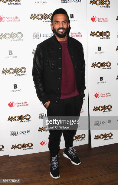 Craig David attends the PreMOBO Awards Show at Boisdale of Canary Wharf on November 20 2017 in London England