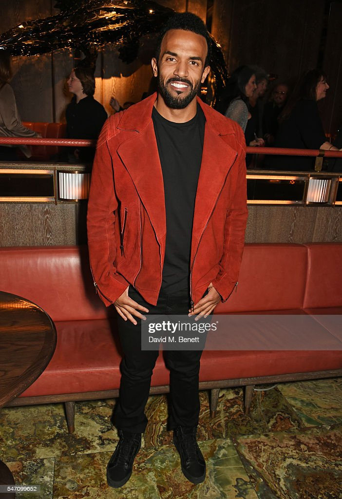 Craig David attends the Sony Music UK Summer Party at Sexy Fish on July 13, 2016 in London, England.