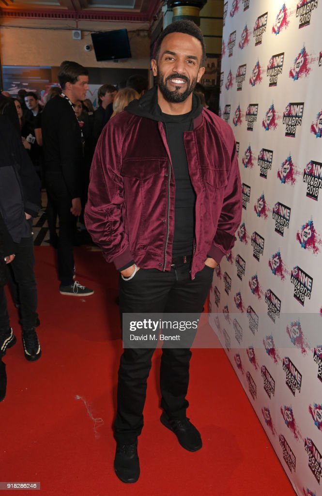 Craig David attends the VO5 NME Awards held at Brixton Academy on February 14, 2018 in London, England.
