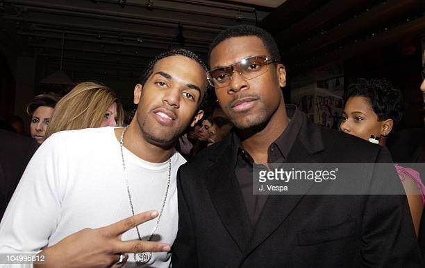 Craig David Chris Tucker during AJArmani Jeans and Vibe Celebrate Craig David's North American Tour at Emporio Armani in New York City New York...