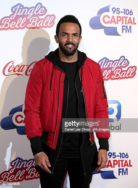 Craig David during Capital's Jingle Bell Ball with CocaCola at London's O2 arena