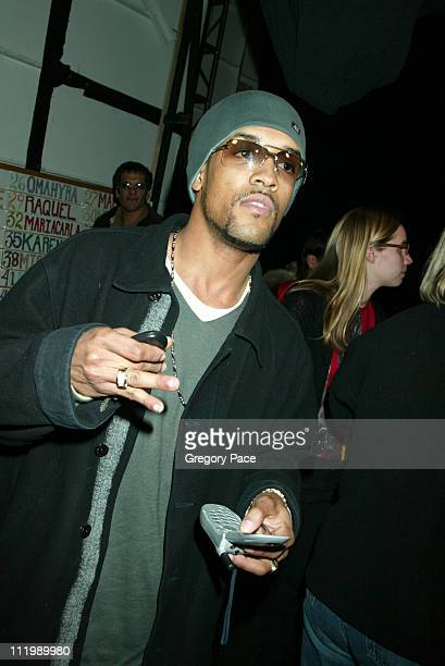 Craig David during Luca Luca Fall Winter 2003 Show at The Tent at Bryant Park in New York NY United States