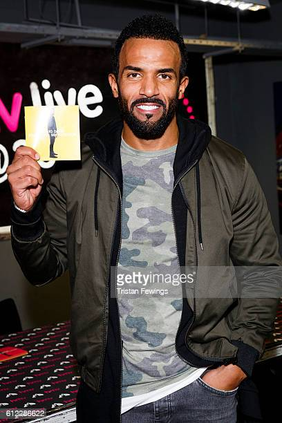 Craig David meets fans and performs songs from his new album Following My Intuition at HMV Oxford Street on October 3 2016 in London England