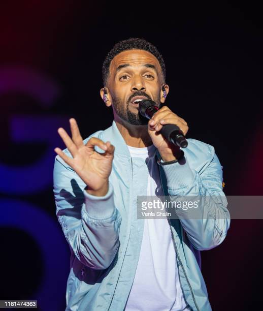 Craig David performs at Rochester Castle on July 11 2019 in Rochester England