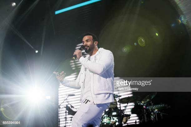 Craig David performs at the BIC on March 19 2017 in Bournemouth United Kingdom