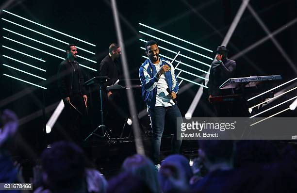Craig David performs at The BRIT Awards with Mastercard 2017 nominations show at ITV Studios on January 14 2017 in London England