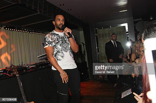 Craig David performs at the launch of 100 Wardour St on January 28 2016 in London England