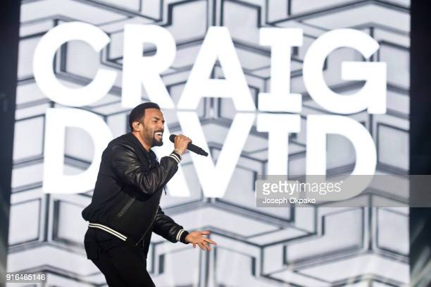 Craig David performs live on stage during Redfestdxb Festival 2018 on February 9 2018 in Dubai United Arab Emirates
